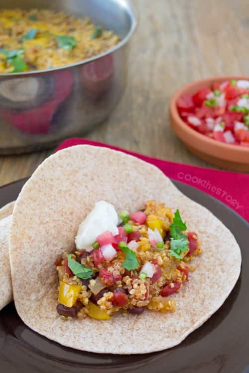 One-Pot Vegetarian Quinoa Fajitas