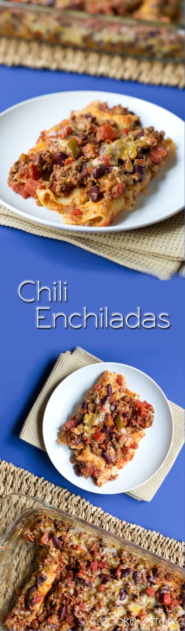 Chili Enchiladas collage text