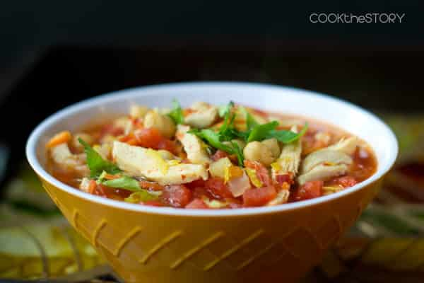 Moroccan soup with harissa