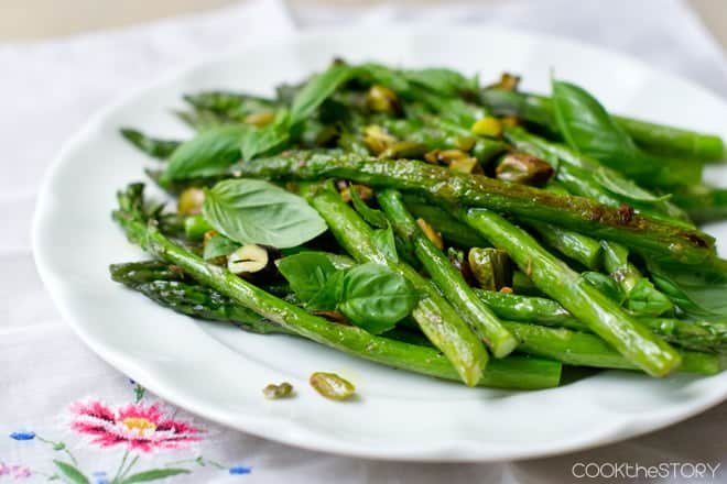Pistachios and Asparagus