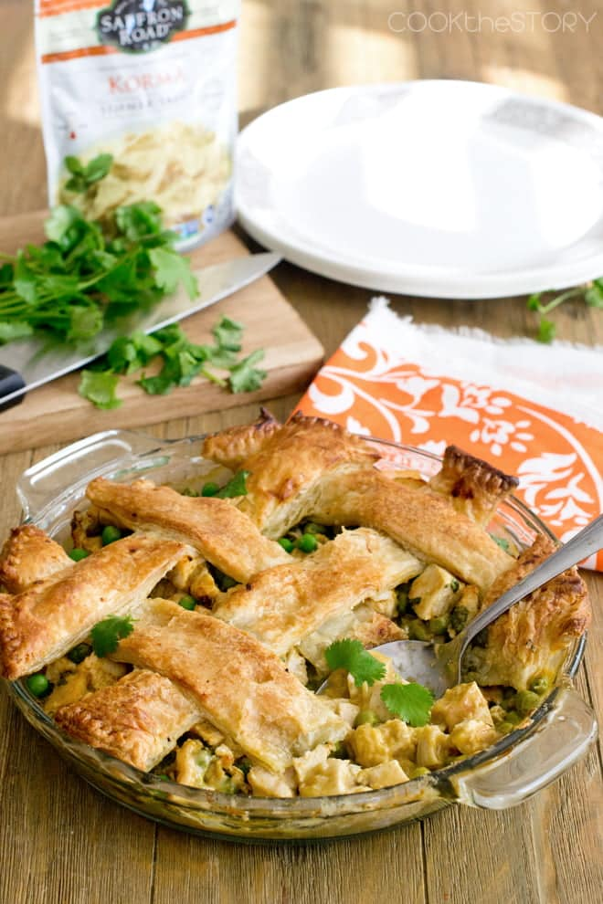 Easy Chicken Korma Pot Pie