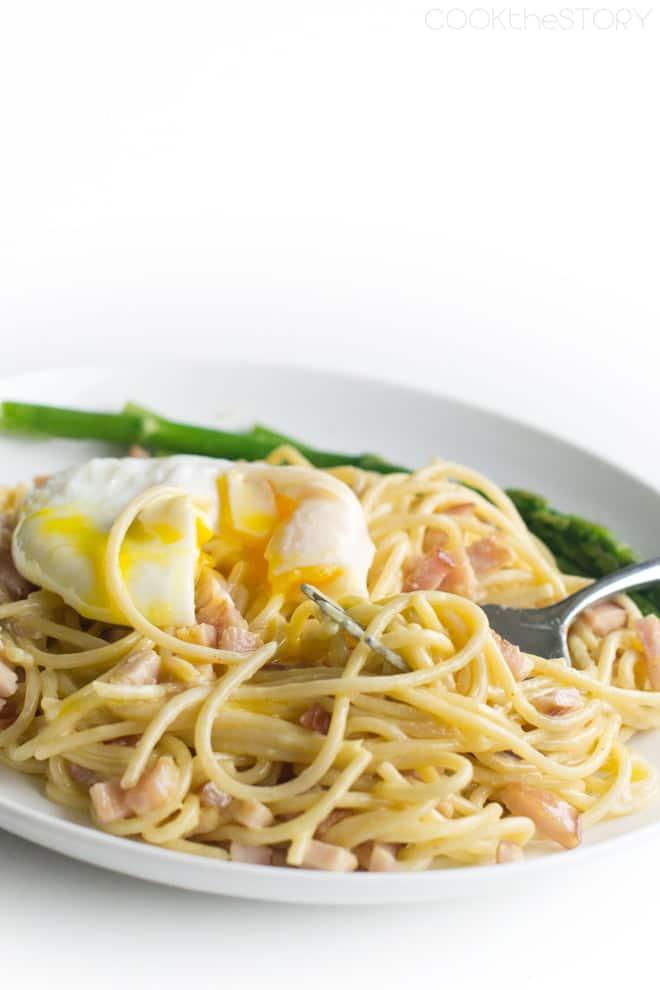 Spaghetti and Eggs Benedict