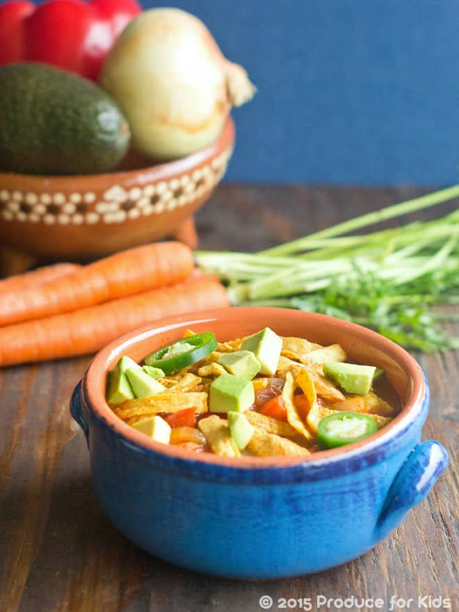 One-Pot Healthy Chicken Tortilla Soup