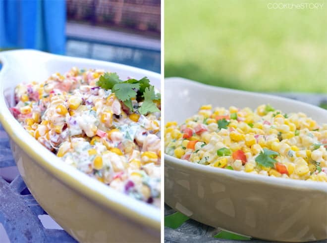 corn salad before and after copy