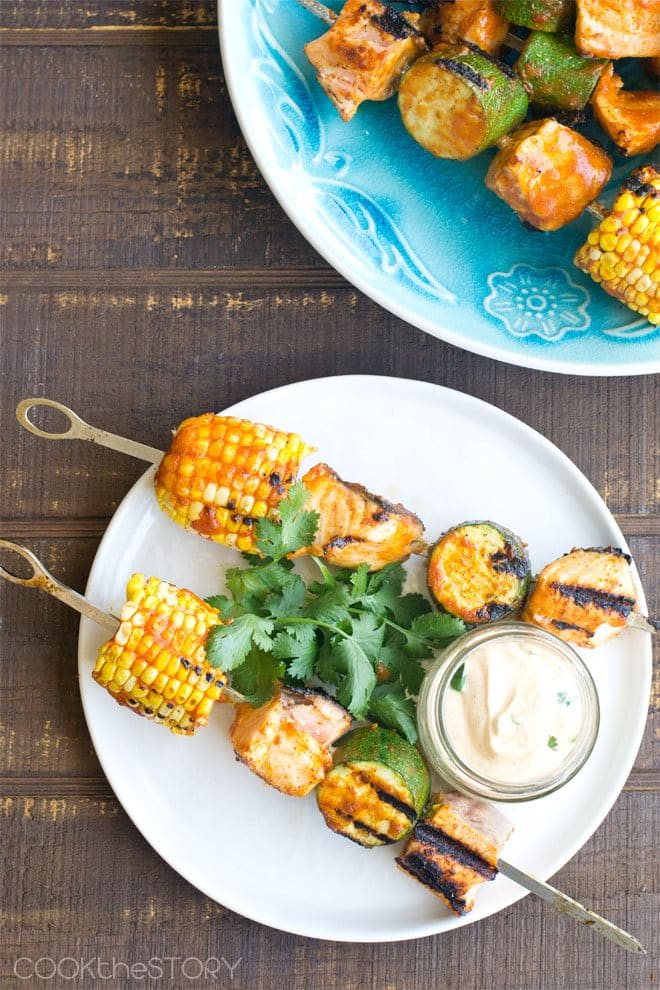 Salmon Tikka Masala Skewers - Get the recipe from COOKtheSTORY.com