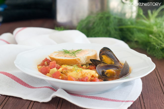 Bouillabaisse with Mussels and Fish