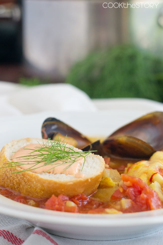 Bouillabaisse with Rouille Sauce