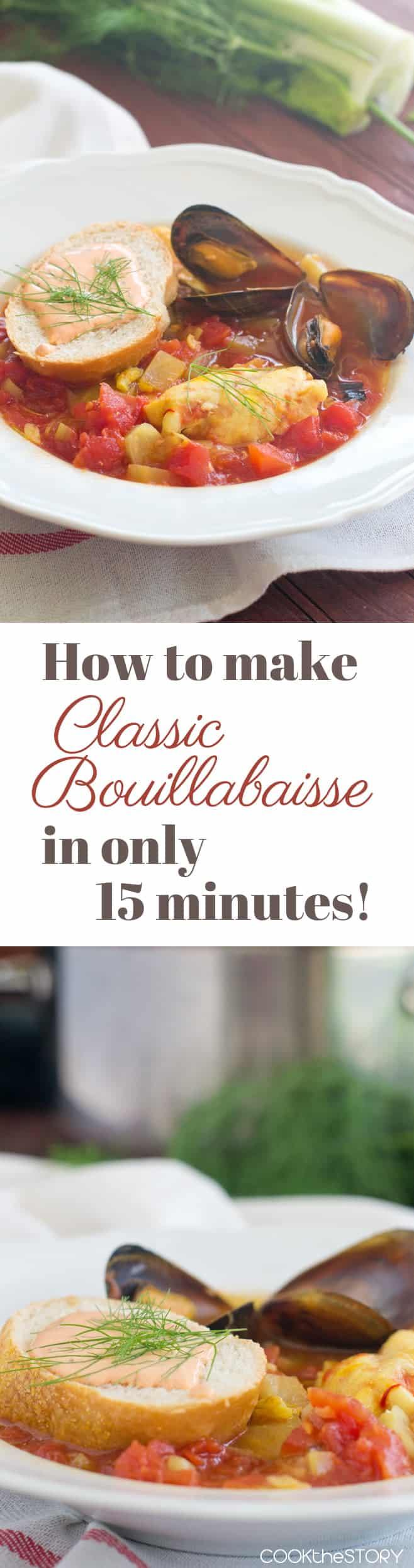 Classic Bouillabaisse with Garlicky Rouille Sauce