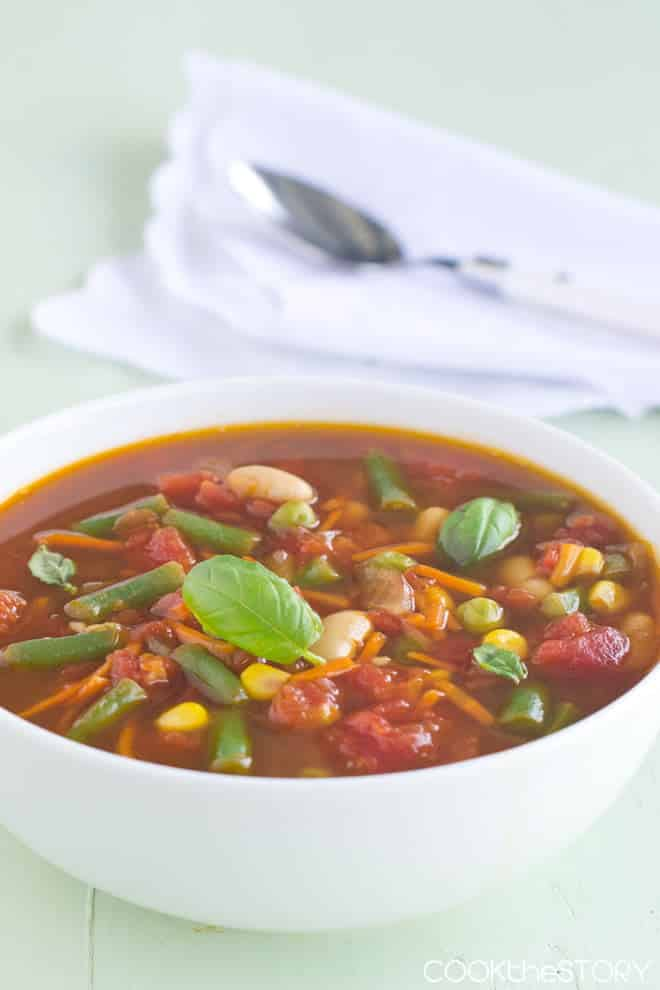 Quick Homemade 15-Minute Vegetable Soup Recipe