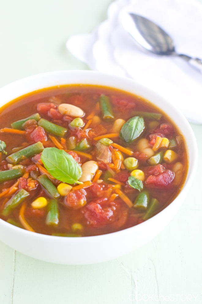 Vegetable Soup in Minutes