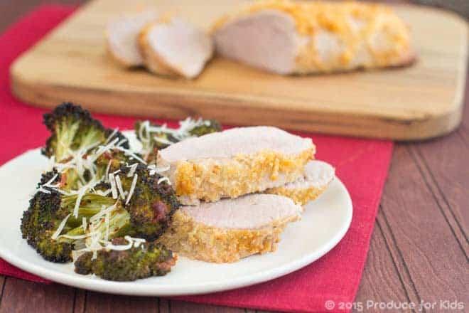 One Pan Pork Tenderloin with Roasted Broccoli